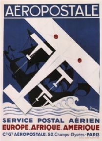 Vintage French poster - Aeropostale 1929